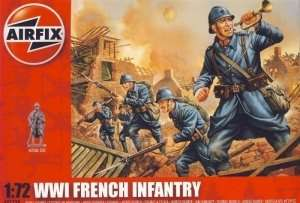 WWI French Infantry in scale 1-72 - Airfix A01728