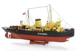 Icebreaker Elbjorn wooden model Billing Boats BB536 in 1-75