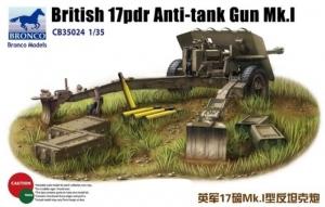 British 17pdr Anti-tank Gun Mk.I model Bronco in 1-35