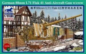 88mm L71 Flak 41 Anti-Aircraft Gun w/crew in scale 1-35