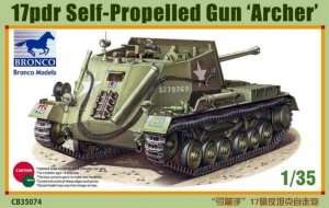 17pdr Self-Propelled Gun Archer in scale 1-35