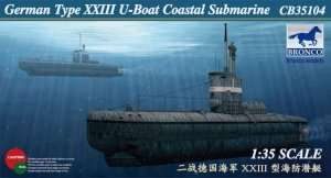 German U-XXIII Coastal Submarine in scale 1-35