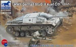 WWII German StuG III Ausf C/D in scale 1-35 Bronco