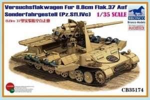 Versuchsflakwagen fur 8,8cm FlaK 37 auf Pz.Sfl.IVc in scale 1-35