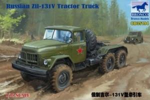 Russian Zil-131V Tractor Truck model Bronco in 1-35