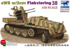 sWS with 2cm Flakviering 38 in scale 1-35 Bronco