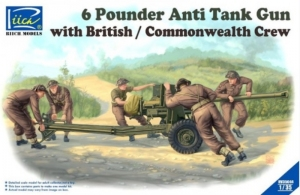 6 Pounder Anti-Tank Gun with British / Commonwealth Crew RV35044