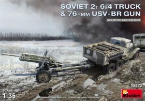 Model MiniArt 35272 Soviet 2T 6x4 Truck & 76mm USV-BR Gun