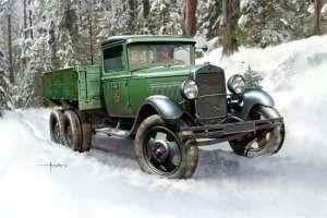 Soviet GAZ-AAA Cargo Truck scale 1:35