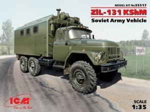 Soviet Army Vehicle ZiL-131 KShM model ICM 35517 in 1-35