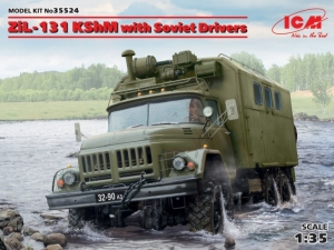 Soviet Army Vehicle ZiL-131 KShM with Soviet Drivers CM 35517