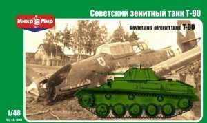 Soviet anti-aircraft tank T-90 scale 1:48