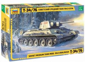 Model Soviet Medium Tank T-34/76 1943 UZTM Zvezda 3689