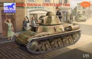 French Hotchkiss Light tank H38/39 1:35