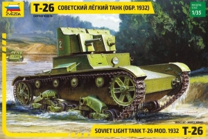 Model Soviet Light Tank T-26 Mod. 1932 Zvezda 3542