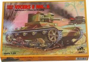 Light Tank Vickers E Mk.A in scale 1-35