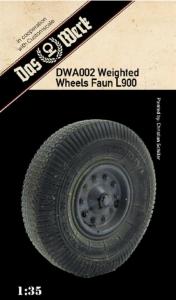 Weighted tires for Faun L900 Das Werk DWA002 in 1-35