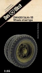 Weighted tires for Sd.Ah.115 Das Werk DWA003 in 1-35