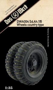 Weighted tires for Sd.Ah.115 Das Werk DWA004 in 1-35