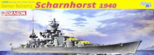 German Battleship Scharnhorst 1940 model Dragon in 1-350
