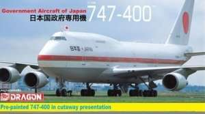 Government Aircraft of Japan 747-400 model Dragon in 1-144