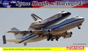 Space Shuttle w/Boeing 747-100 in scale 1-144