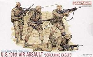 U.S. 101st Air Assault Screaming Eagles in scale 1-35