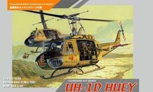 Helicopter UH-1D Huey in scale 1-35