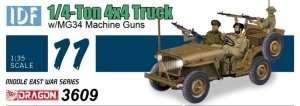 IDF 1/4-Ton 4x4 Truck w/MG34 in scale 1-35