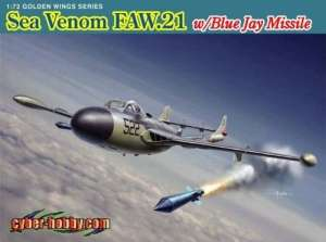 Sea Venom FAW.21 w/Blue Jay Missile in scale 1-72