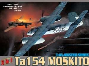 Ta154 Moskito 3in1 model Dragon in scale 1-48