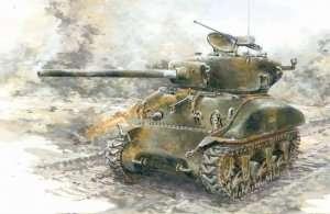 Tank Sherman M4A1(76)W in scale 1-35