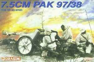 7.5cm PaK 97/38 in scale 1-35 Dragon nr 6123
