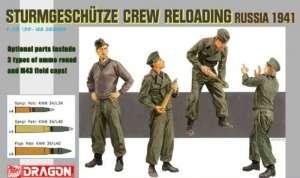 Sturmgeschutze Crew Reloading Russia 1941 in scale 1-35