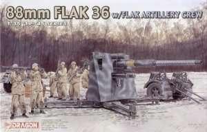 88mm Flak 36 w/Flak Artillery Crew in scale 1-35 Dragon 6260