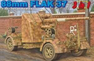 Dragon 6287 88mm Flak 37 (3 in 1)