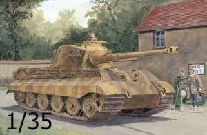 Model tank Kingtiger Henschel Turret zimmerit