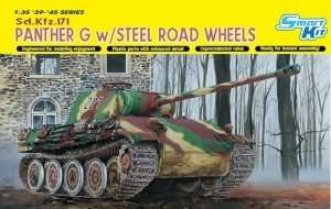 Panther G w/Steel Road Wheels in scale 1-35 Dragon 6370
