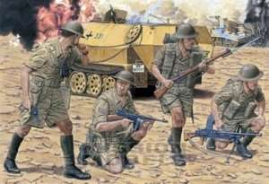 British 8th Army Infantry - El Alamein 1942 - in scale 1-35