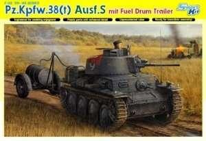 Dragon 6435 Pz.Kpfw.38(t) Ausf.S mit FUEL DRUM TRAILER