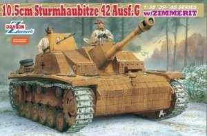 10.5cm Sturmhaubitze 42 Ausf.G w/Zimmerit in scale 1-35