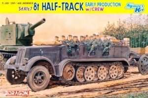 Sd.Kfz.7 8t Half-track with Crew in scale 1-35