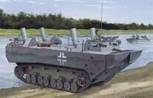 Panzerfahre Gepanzerte Landwasserschlepper model Dragon in 1-35