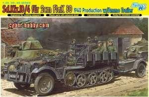 Sd.Kfz. 10/4 fur 2cm FlaK 30 1940 Producion w/Ammo Trailer 1:35