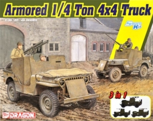 Armored 1/4 Ton Truck 4x4 w/.50-cal Machine Gun model Dragon