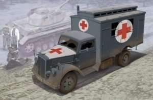 German Ambulance Truck in scale 1-35