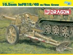 10.5cm leFH18/40 w/Gun Crew in scale 1-35 Dragon 6795