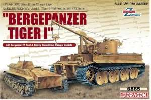 Bergepanzer Tiger I mit Borgward IV in scale 1-35