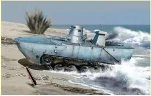IJN Type 2 Ka-Mi Amphibious Tank w/Floating Pontoon in scale 1-35