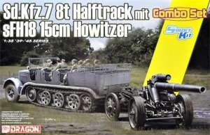 Sd.Kfz.7 8(t) Halftrack and s.FH.18 Howitzer model Dragon in 1-35